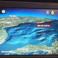 「日本海」と表記されたロシア・アエロフロート機内の運行情報サ