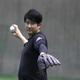 ジャイアンツ球場で練習した巨人・菅野