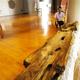 一般公開が始まった桜井茶臼山古墳の木棺=奈良県橿原市