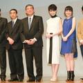 WEBドラマ完成披露イベントには(左から)阿部守一長野県知事、