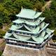 現在の名古屋城大天守。名古屋市が解体を申請したが、国の許可を得られなかった=2016年9月2日、名古屋市中区、朝日新聞社ヘリから