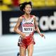 女子10000m・決勝にて。  写真は、5位に入った新谷仁美。30分56秒70で自己記録を更新した。  (撮影:フォート・キシモト)  [2013年8月11日、ルジニキ・スタジアム/モスクワ/ロシア]
