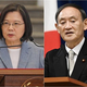 蔡総統(左)と菅首相=右写真は共同通信提供