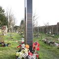 ケンサル・グリーン墓地の一角にある故フレディ・マーキュリー