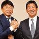 2018年2月、武田氏(左)は本紙企画で森保監督と対談
