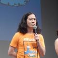 映画『海辺の週刊大衆』の舞台挨拶に登壇し作品への思いを語っ